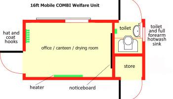 16ft Mobile Combi Welfare Unit Plan copy
