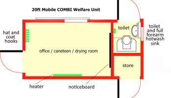20ft Mobile Combi Welfare Unit Plan copy