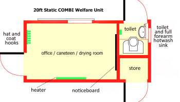 20ft welfare unit