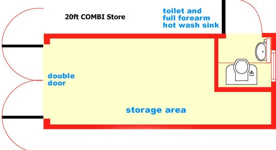 20ft combi store