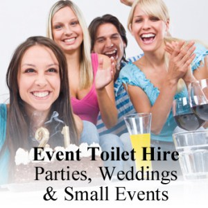 Event toilet hire for parties