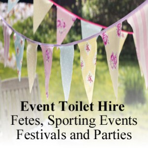 event toilet hire for fetes sporting events and parties