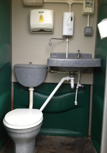 Single mains toilet hire image