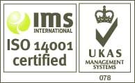 UKAS ISO 14001 WHITE BACKGROUND